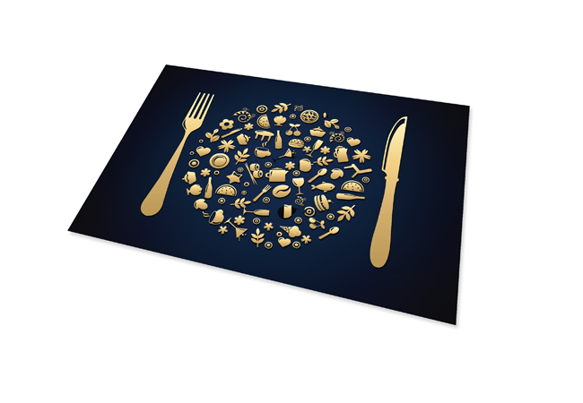 25% korting op placemats